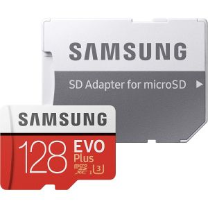 SAMSUNG EVO PLUS CLASS 10 U3 MICROSDXC CARD WITH ADAPTER - 128GB
